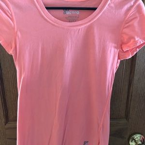 Bright coral athletic t shirt